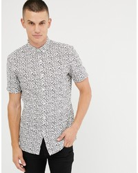 Tom Tailor Short Sleeve Shirt In Leopard Print