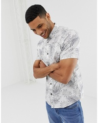 ONLY & SONS Slim Short Sleeve Shirt In All Over Print