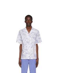 Kenzo White All Over Print Casual Shirt