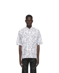Givenchy White Jewelry Print Loose Fit Shirt