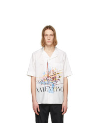 Valentino White Roman Sketches Short Sleeve Shirt