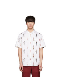 Thom Browne White Swimmer Short Sleeve Shirt