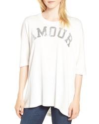 Zadig & Voltaire Portland Amour Short Sleeve Sweatshirt