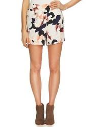 1state floral print flat front shorts medium 4344068