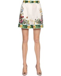 Dolce & Gabbana Bouquet Printed Cotton Poplin Shorts