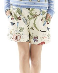Gucci Flora Knight Print Cotton Canvas Shorts
