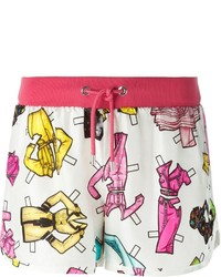 Moschino Paper Doll Accessories Print Shorts