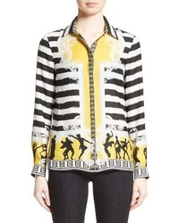 Versace Collection Catwalk Print Silk Blouse