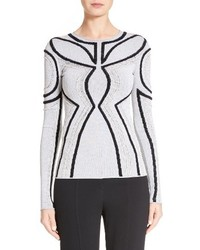 Proenza Schouler Intarsia Loop Knit Sweater