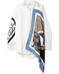 3.1 Phillip Lim Oversized Satin And Med Printed Silk Twill Shirt