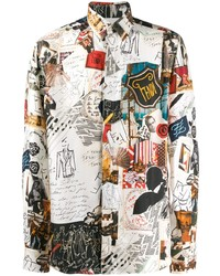 Fendi Karl Kollage Silk Shirt