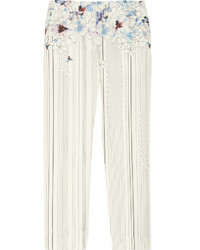 3.1 Phillip Lim Cropped Printed Silk And Cotton Blend Pants