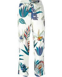 Tory Burch Botanical Print Pants