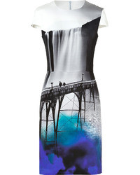 Mary Katrantzou Silk Crepe Fitted Dress In Sanfran