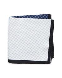 Eton Colorblock Silk Pocket Square