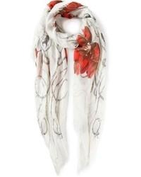 Alexander McQueen Tulip Print Scarf