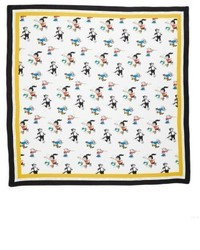 Cartoon graphic silk scarf medium 4951523
