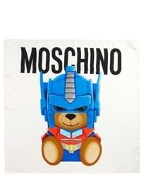 Moschino Transformers Print Silk Scarf