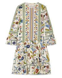 Tory Burch Daphne Printed Silk Mini Dress