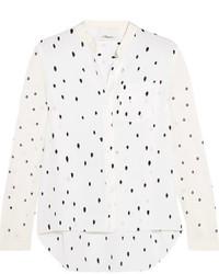 3.1 Phillip Lim Snowbird Printed Silk Crepe De Chine Shirt Off White