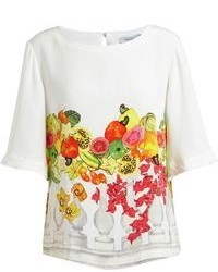 Isolda tropical fruit print t shirt medium 95787