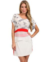 Stella and jamie maggio blouse in off whiteprint medium 95788