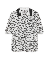 Miu Miu Printed Silk De Chine Shirt