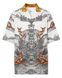 Burberry Deer Print Silk Shirt
