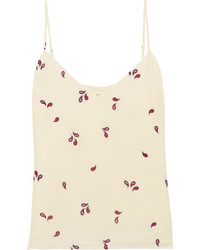 Jane printed silk crepe de chine camisole cream medium 5219906