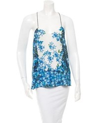 Tibi Printed Silk Top W Tags