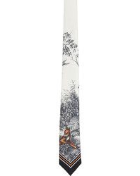 Burberry White Silk Jaquard Manston Tie