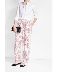 Salvatore Ferragamo Printed Silk Pants