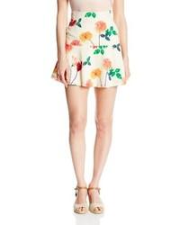 BB Dakota Goodwin Lush Printed Cupra Touch Skater Skirt