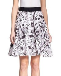 Surrealist printed fil coupe skirt medium 212992