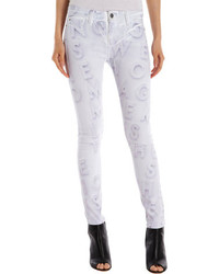 Rob-ert Each X Other Robert Montgomery Print Jeans White