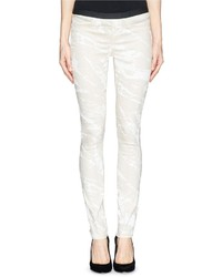 Helmut Lang Paint Streak Stretch Jeggings