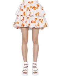 MSGM Layered Printed Cotton Poplin Skirt