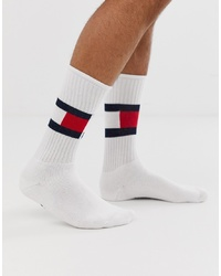 Tommy Hilfiger Flag Socks In White