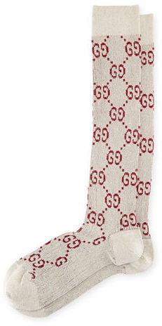 Gucci Gg Print Socks