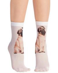 Pamela Mann Ltd Tabby And You Know It Socks In Pug