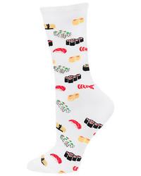 Hot Sox Sushi Print Trouser Socks