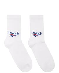 Reebok Classics Three Pack White Crew Socks