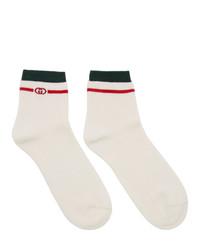 Gucci White Interlocking G Socks