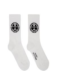 Rassvet White Jacquard Socks