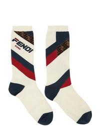 Fendi White Mania Socks