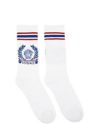 Versace White Medusa Motif Socks