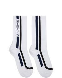 Givenchy White Moto Biker Socks