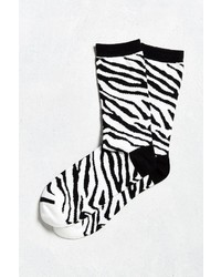 Urban Outfitters Zebra Crew Sock