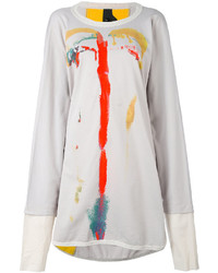Bernhard Willhelm Printed Sweatshirt Dress
