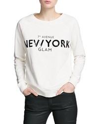White Print Sweater